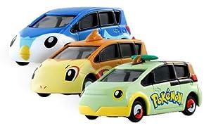 Turtwig, Chimchar, Piplup - Pokemon Tomica Mini Car (1 set of 3 mini cars) [Hot Wheel Style] (Japanese Imported)