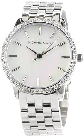 Michael Kors Women's MK3118 5-Link Round Mother-Of-Pearl Glitz Watch
