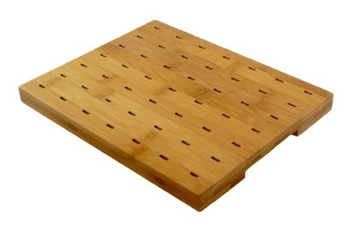 PacknWood Rectangular Bamboo Paddle Pick Display, Holds 49 Bamboo Paddle Picks, 9.25