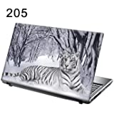 TaylorHe 15.6 inch 15 inch Laptop Skin Vinyl Decal with Colorful Patterns and Leather Effect Laminate MADE IN BRITAIN Tiger in Snow