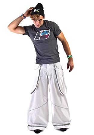 "Kikwear Men's 32"" Super Deluxe Rave Pants 44 White"