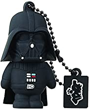 Tribe Star Wars Pendrive - Memoria USB Flash Drive 2.0, de goma, de 8 GB con llavero, diseño Darth Vader