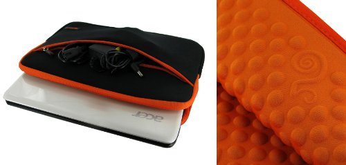 rooCASE Neoprene Wonderful Bubble Sleeve Case for Acer Aspire One AO721-3070 11.6-inch (Sulky / Orange)