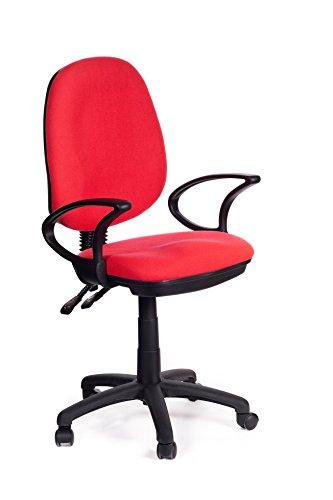San Marco red-sofa - Sedia per ufficio direzionale in tessuto rosso Red Sofa