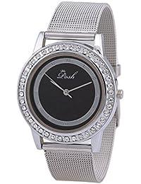Posh Designer Round Black Dial Analog Wrist Watch For Girls And Women