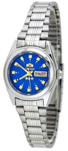 ORIENT #BNQ 1 x 003 litri Tri stella da donna quadrante blu orologio a carica automatica