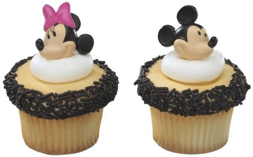 Mickey Mouse y Minnie Mouse Toppers magdalena Anillos