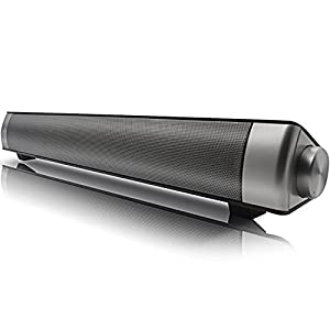 Bluetooth Speaker, Yokkao® Bluetooth 3.0 Wireless Soundbar Built-in Subwoofer Multifunctional Speaker Support TF Card/ 3.5mm Aux-in for iPhone iPad Smartphone/ Tablet/ MP3