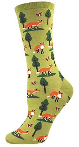 Socksmith Women's Socks Foxes Crew Fern 1pair