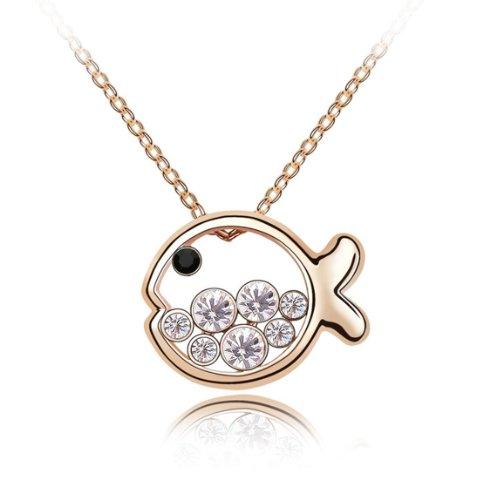 Boxingcat Fine Jewelry Swarovski Style Clear Austrian Crystal Pendant Necklaces Bgca4472 front-778713