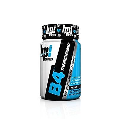 BPI Sports B4 Fat Burner Diet Supplement,710 MG Capsules