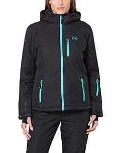 Ultrasport Funzionale all'aperto giacca alpino da donna Softshell Serfaus con Ultraflow 10.000 - Noir/Oiseau Bleu - XS