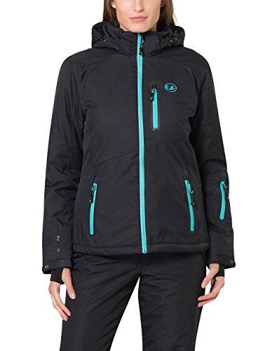 Ultrasport Serfaus - Chaqueta softshell alpina-outdoor de señora con Ultraflow 10.000, negro...