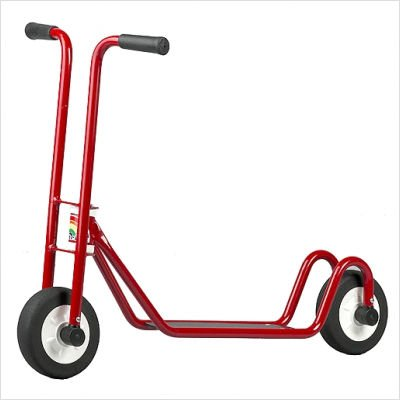 Italtrike Heavy-Duty Two-Wheeled Scooter - Red