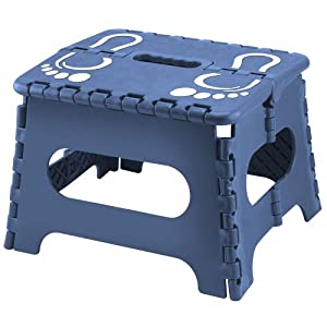 Koehlerhomedecor Indoor Morden Anti Slip Folding Blue Step Stool by Koehlerhomedecor