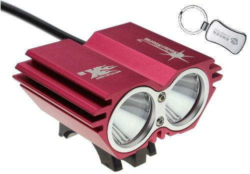 Solarstorm @ Bike Light 2*Cree Xm-L U2 4 Modes Led Dual Head Bicycle Light/Bicycle Front Light (Red) + A Keychain