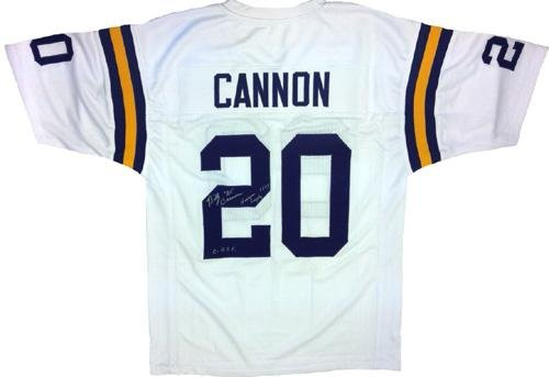 "Billy Cannon Signed LSU Tigers White Custom Jersey ""Heisman '59 CHOF - Autographed College Jerseys at Amazon.com"