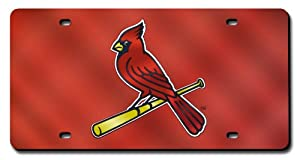 St. Louis Cardinals License Plate Cover (Red Mirror) by Rico