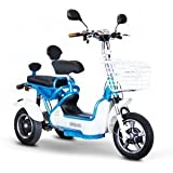 eWheels EW-27 CROSSOVER Scooter - Pre-Mobility Scooter (White/Lite Blue)