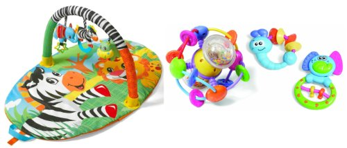 Infantino Explore & Store Activity Gym With Activity Toy Set, Jungle Buddy front-945215