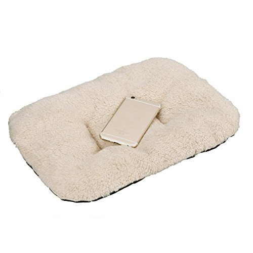 Malloom Dog Thick Fleece Cushion Pad Cat Kennel Sleeping Comfort Mat Dog Crat... (Cat Sleeping Pad compare prices)