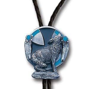 Amazon.com: Siskiyou Sports BT95 Howling Wolf Bolo Tie: Jewelry
