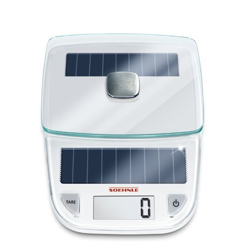 Soehnle Easy Solar Kitchen Weighing Scale, White by Soehnle