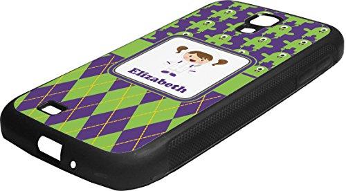Astronaut, Aliens & Argyle Rubber Samsung Galaxy 4 Phone Case front-1003535