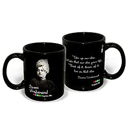 Hot Muggs Swami Vivekananda Quote on Ideas Ceramic Mug, 350 ml