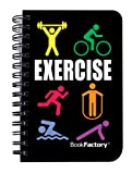 BookFactory® Exercise Journal / Mini Exercise Diary / Fitness Notebook / Exercise Log Book, 120 pages - 3 1/2