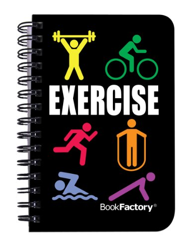 BookFactory Fitness Journal / Workout Journal / Exercise Journal / Log Book, 120 pages, 3.5