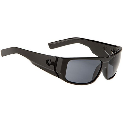 Spy Hailwood Sunglasses - Spy Optic Addict Series Polarized Casual Eyewear - Color: Matte Black/Grey, Size: One Size Fits All