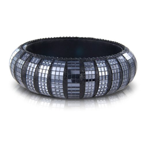 Black Costume Jewellery Fashion Sequin Bangle - arrives in a pretty gift bag.