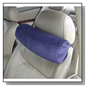 Memory Foam Car Neck Pillow With Headrest Strap (NAVY)