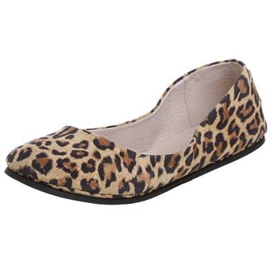 French Sole FS/NY Women's Sloop Ballet Flat,Leopard,5.5 M