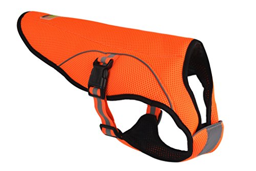 BINGPET Dog Cooling Jacket Evaporative Swamp Cooler Vest Reflective Safety Pet Hunting Harness , Orange 2xl