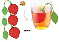 Ved-Mart© Silicone Tea Infusers Fine Filter 3 Sets In One, Super Cute Strawberry Design Red, Teapot Teacup Tea-filter