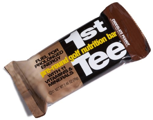 SCNS Sports Foods 1st Tee Chocolate Peanut Pre-Round Golf Nutrition Bar, 2.46-Ounce Bars (Pack of 12)