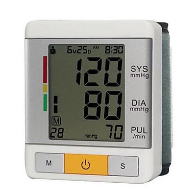 Wrist Blood Pressure Monitor (0~299Mmhg, ¡À3Mmhg, 2Xaaa Battery)