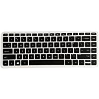 Saco Chiclet Keyboard Skin For HP Envy 14 Spectre Ultrabook - Black With Clear
