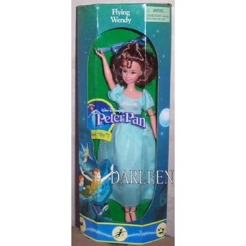 Amazon.com: Disney Peter pan's FLYING WENDY doll by Mattel 1997