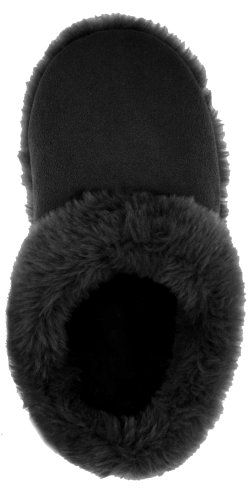 Image of Capelli New York Faux Suede Slipper Scuff W/ Faux Fur Trim Ladies Slipper (B004AHHC3C)