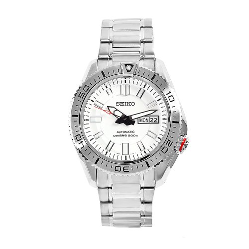 Seiko Men's SKZ323 Superior Stainless Steel White Dial Watch