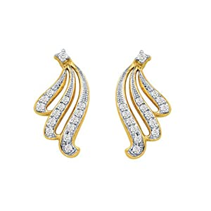Bling Women Girls Earrings BGE 011 White Gold