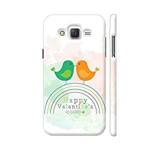 Colorpur Two Love Birds On Rainbow Artwork On Samsung Galaxy J2 (Old) Cover (Designer Mobile Back Case) | Artist: Designer Chennai