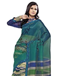 Triveni Sleek Bordered Super Net Printed Fancy Saree 948a