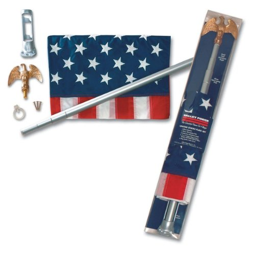 U.S. Flag Kit With Telescoping Pole Case Pack 4