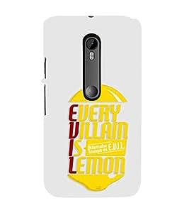 EPICCASE Evil Lemon Mobile Back Case Cover For Moto X Style (Designer Case)
