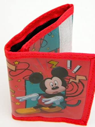 Disney Mickey Mouse Wallet In Red