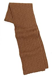 Cable Knit Scarf with Cashmere [T09-4759-S]